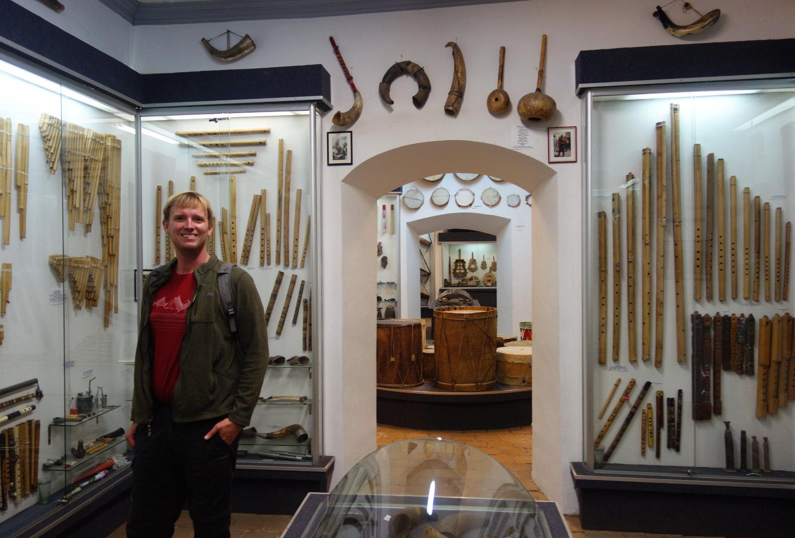 Bolivien La Paz Museum Musikinstrumente