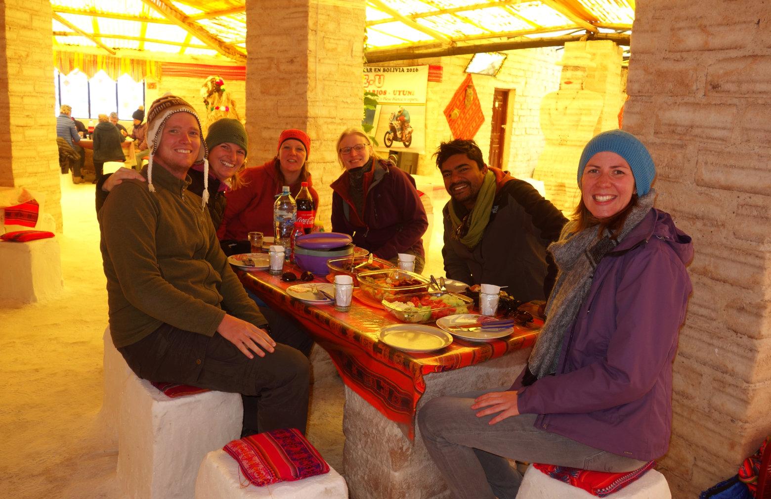 Bolivien Salar de Uyuni Essen Salzhotel