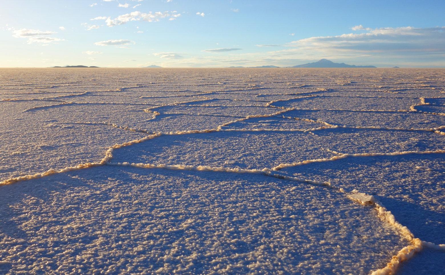 Bolivien Salar de Uyuni Salzwaben