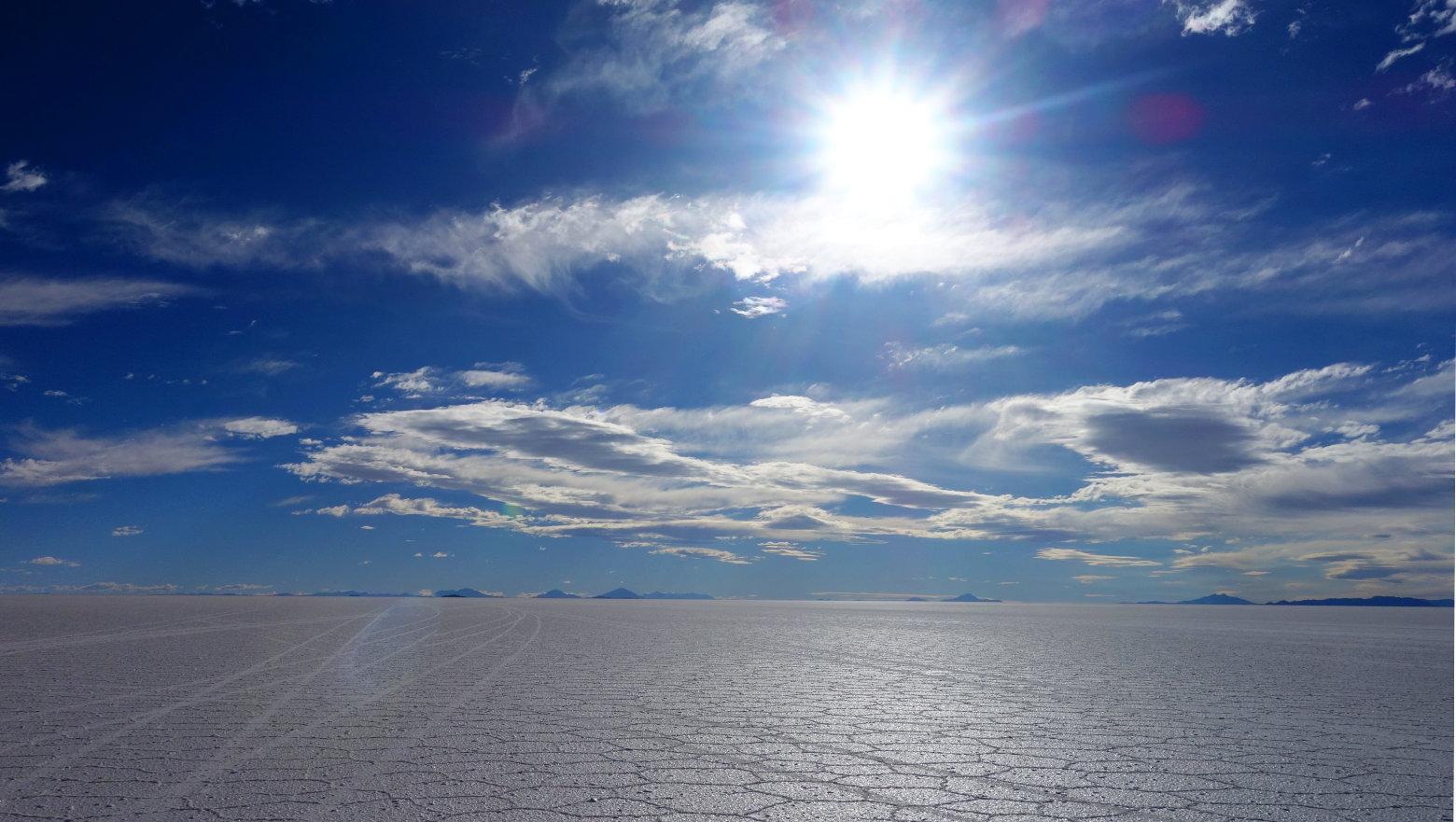 Bolivien Salar de Uyuni endlose Salzwüste