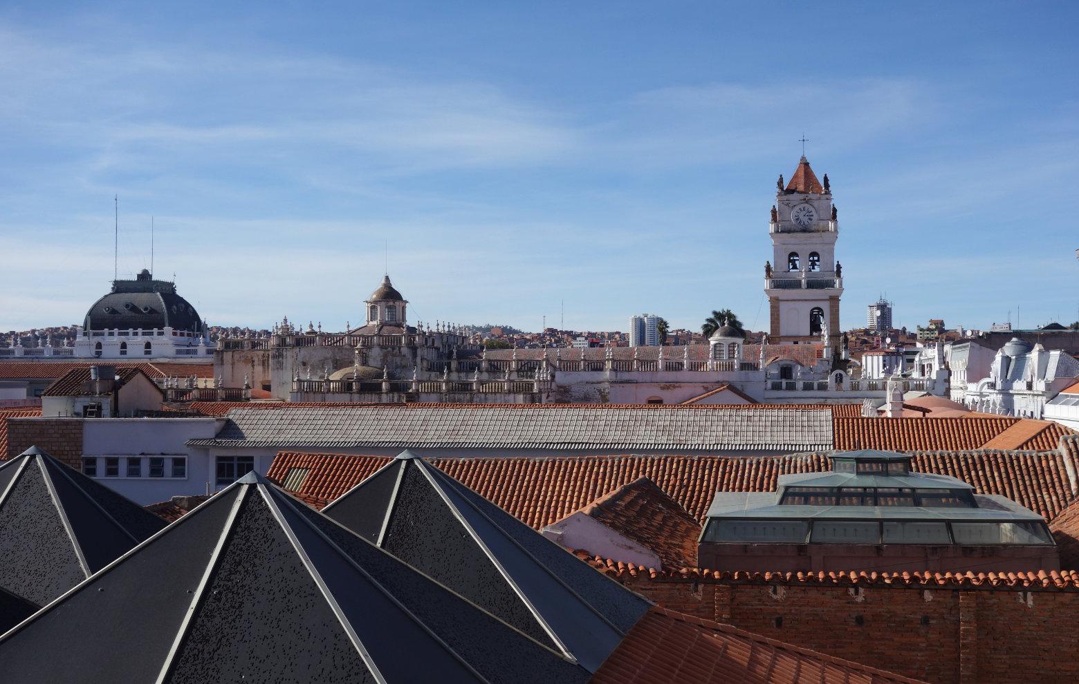 Bolivien Sucre Blick auf die Stadt vom Konvente