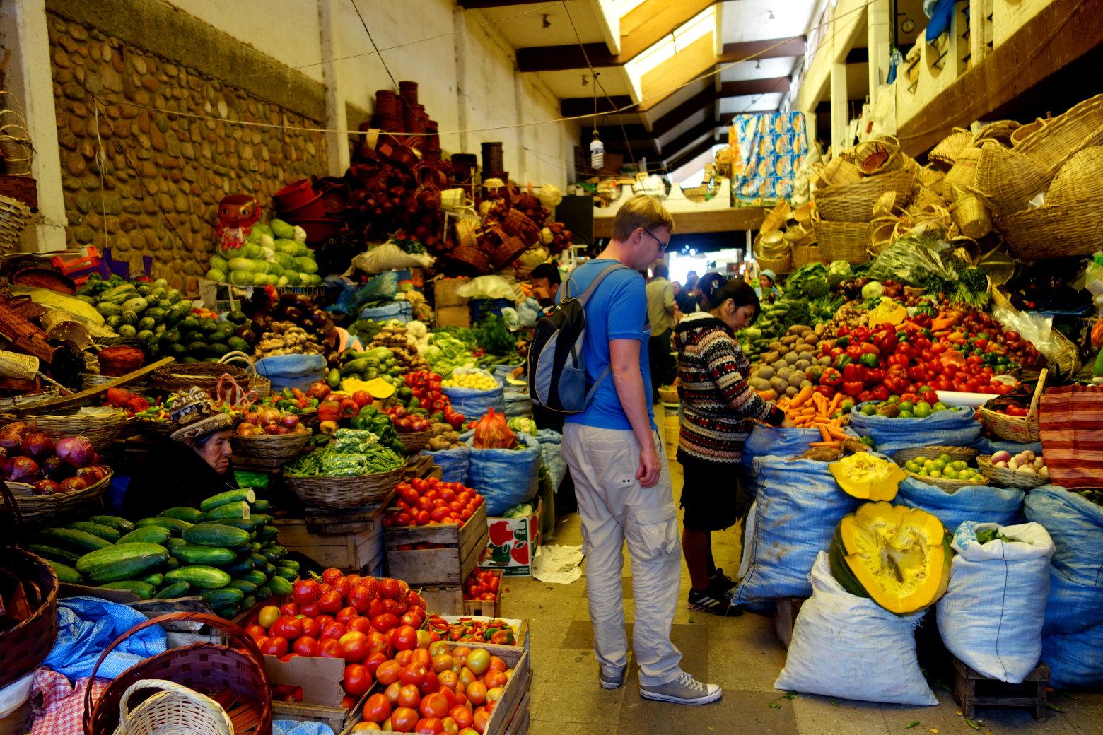 Bolivien Sucre Markt