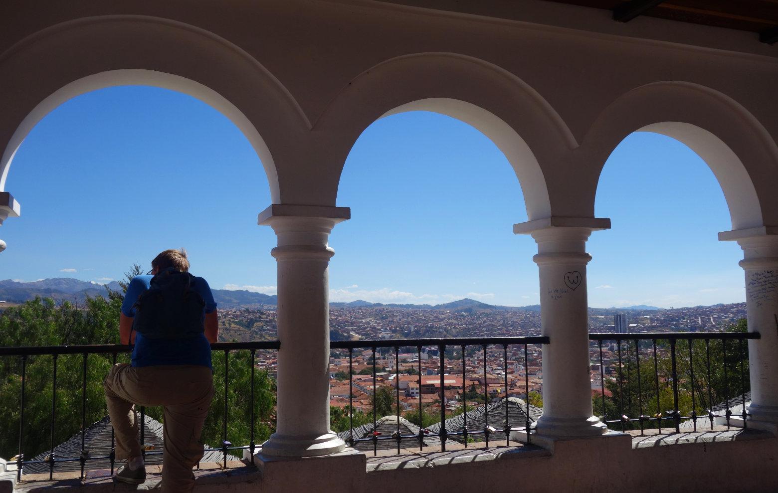 Bolivien Sucre Recoleta Blick auf Stadt