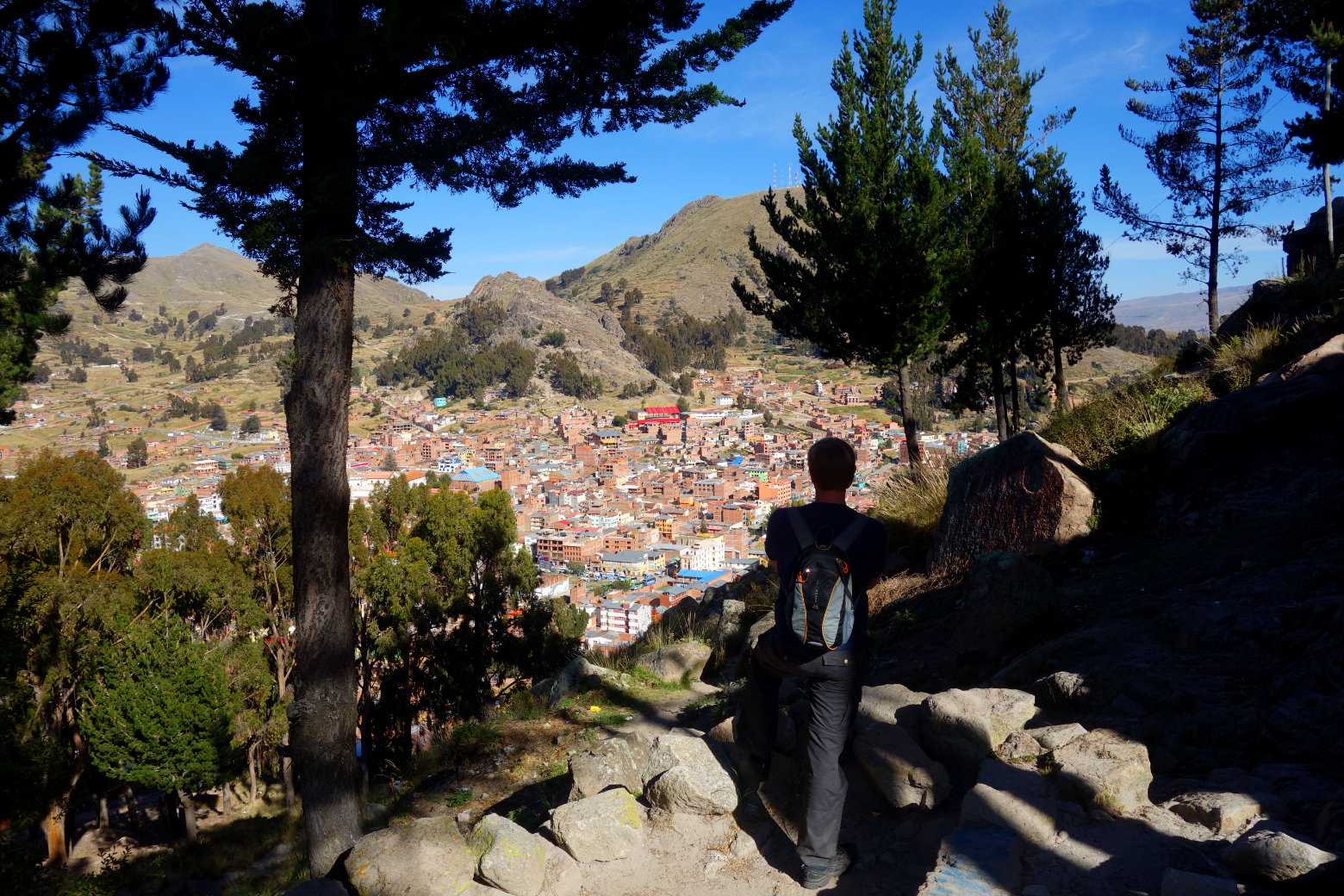 Bolivien Titicacasee Wanderung auf Cerro Calvario