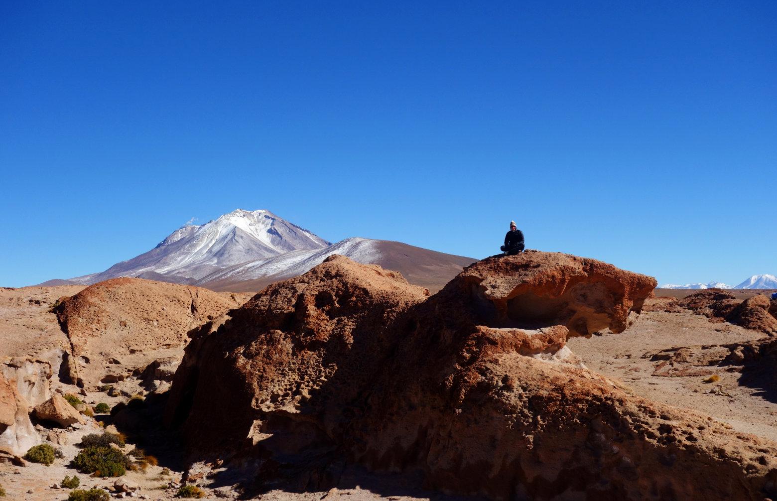 Bolivien Salar de Uyuni Vulkan Ollague