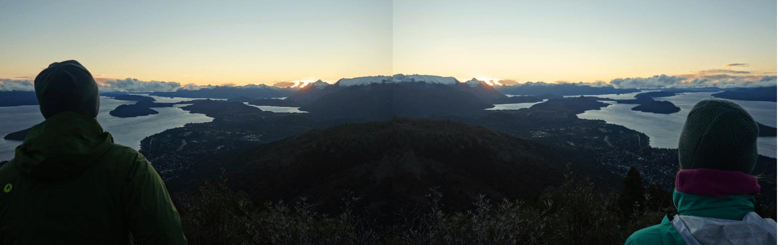 Argentinien Bariloche Sonnenuntergang
