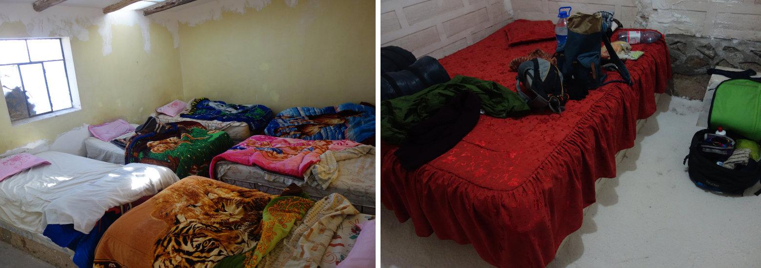 Bolivien Salar de Uyuni Betten