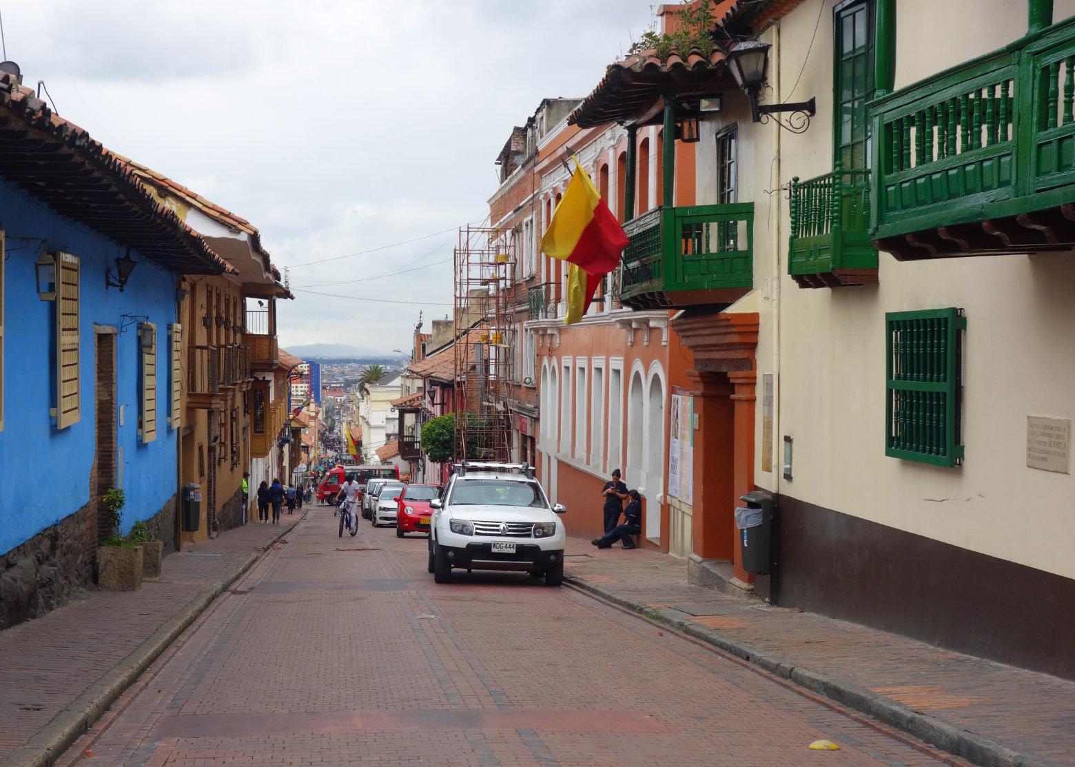 Bogotá Straße in der Innenstadt