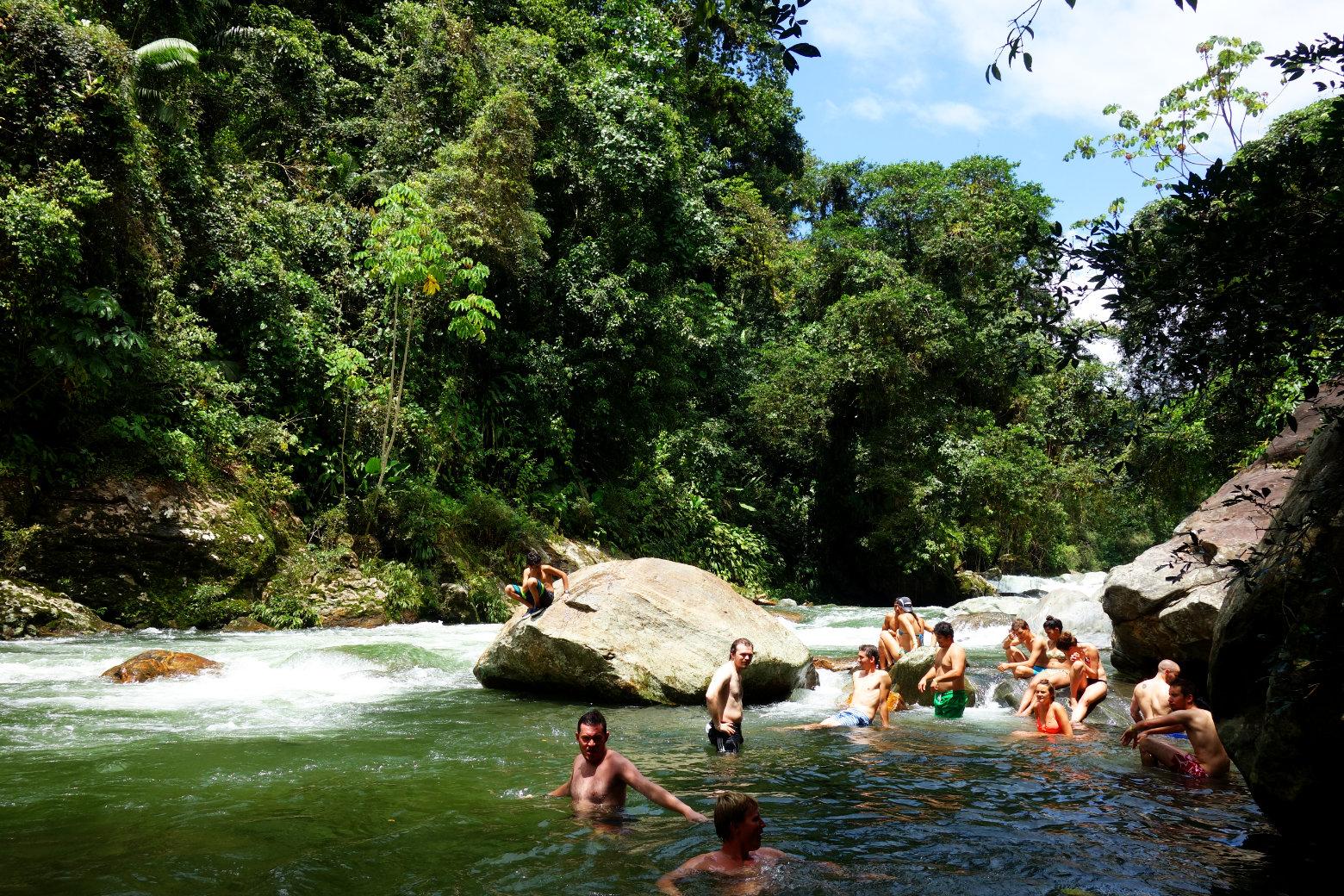 Ciudad Perdida Abkühlung im Fluss