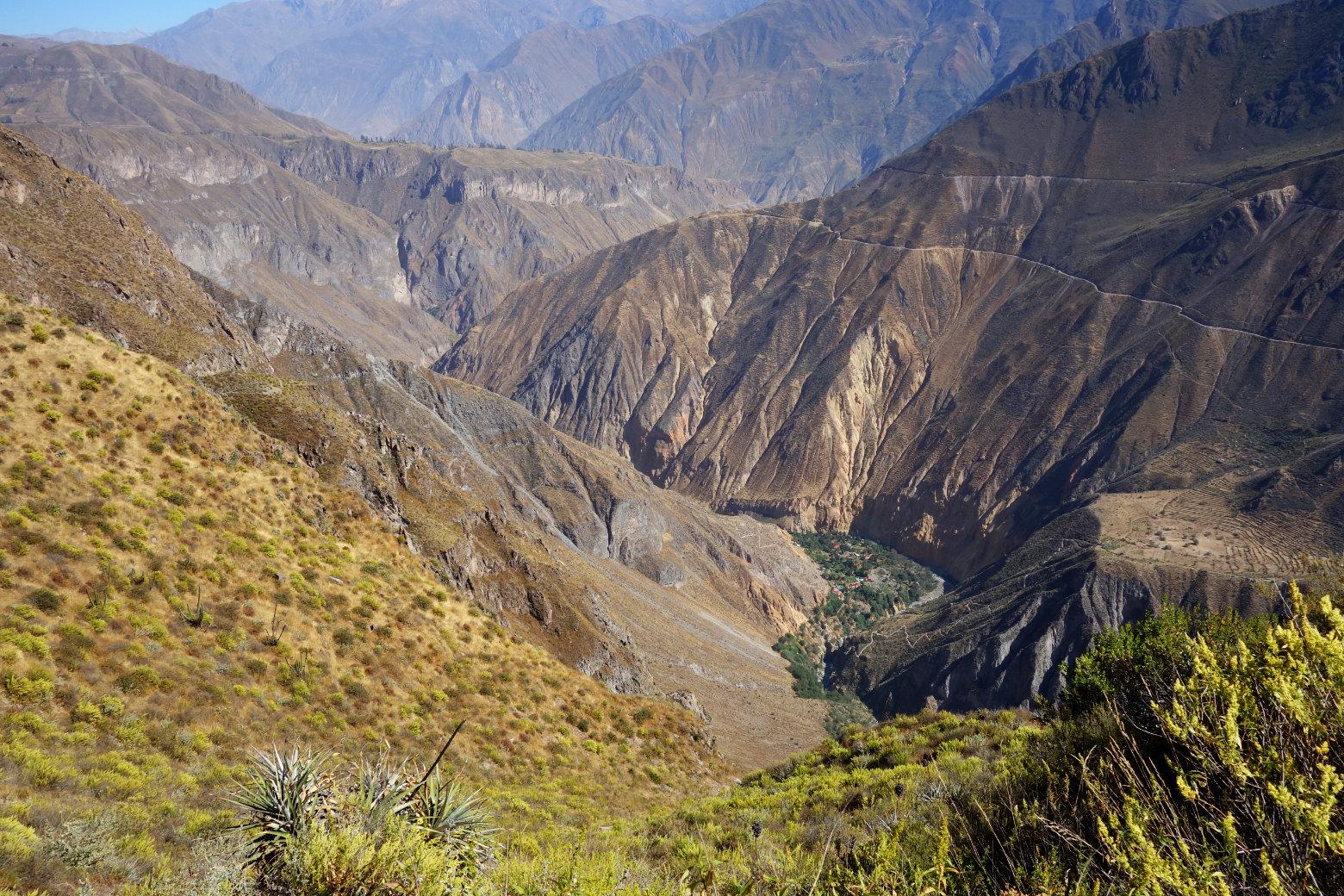 Colca Canyon Blick ins Tal