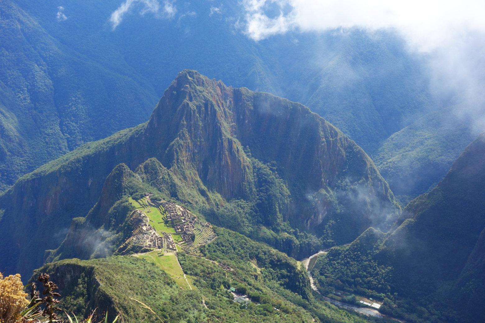 Blick vom Machu Picchu Mountain
