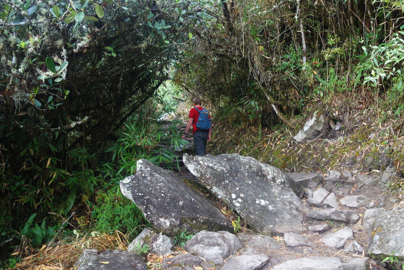 Weg zum Machu Picchu Mountain