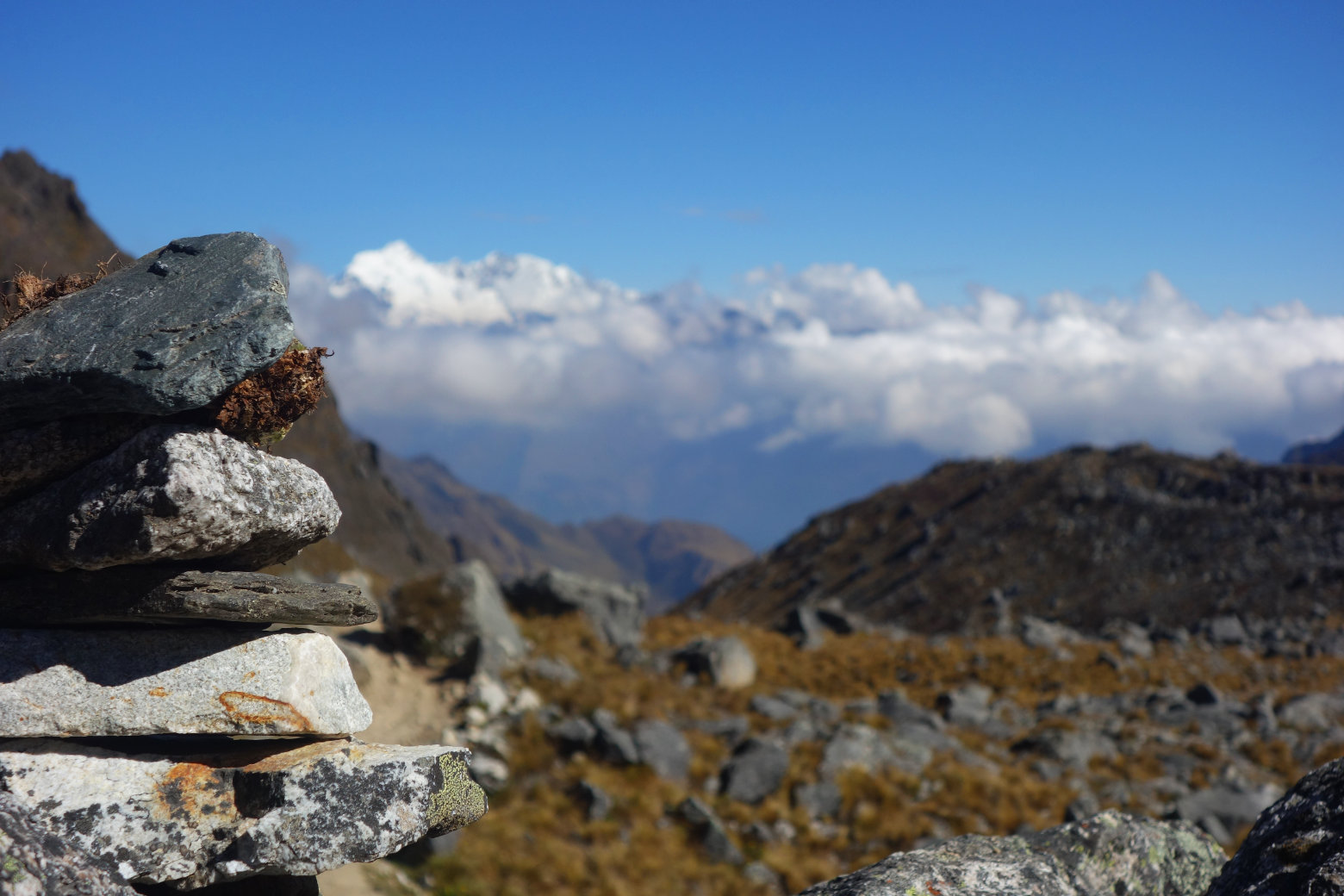 Salkantay Pass Steinformation
