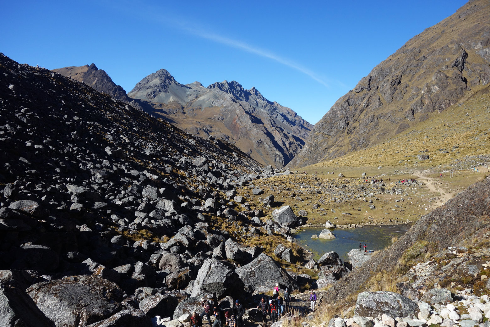 Salkantay Trek Aufstieg zum Pass