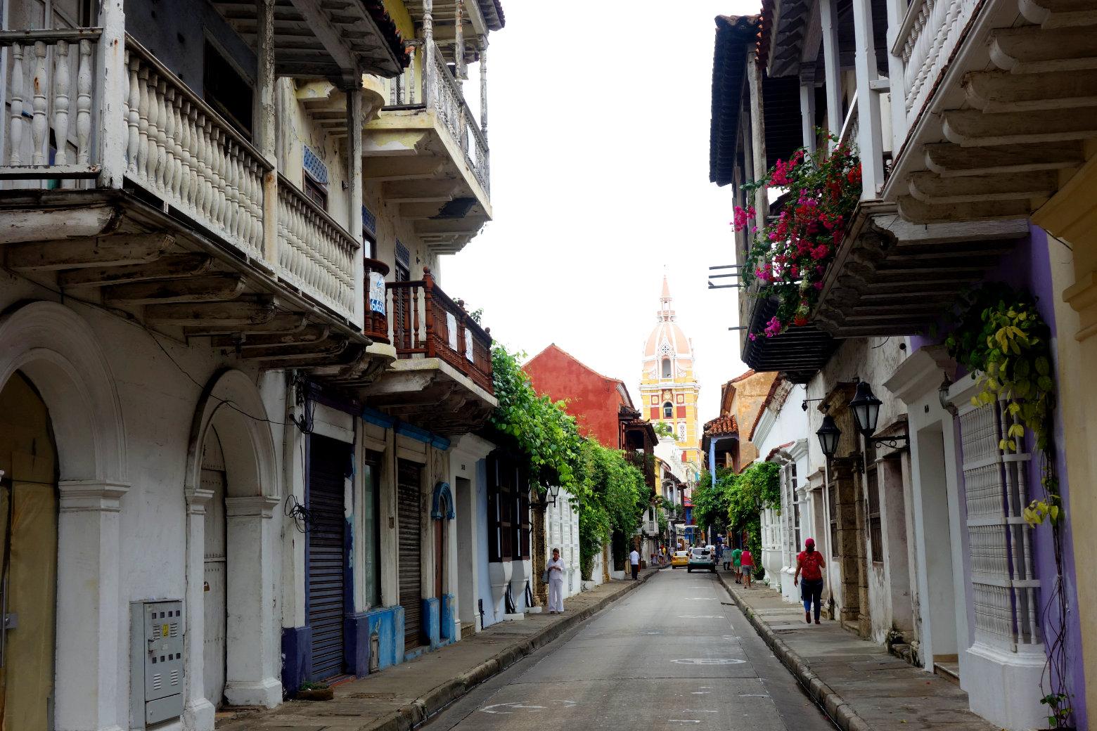 Cartagena Innenstadt mit Kolonialhäusern