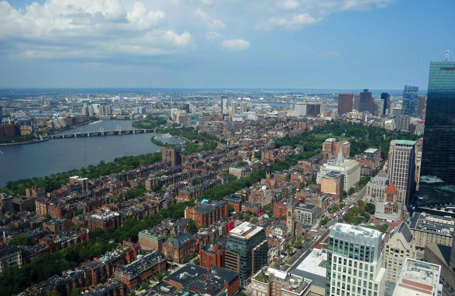 Boston Blick vom Prudential Tower