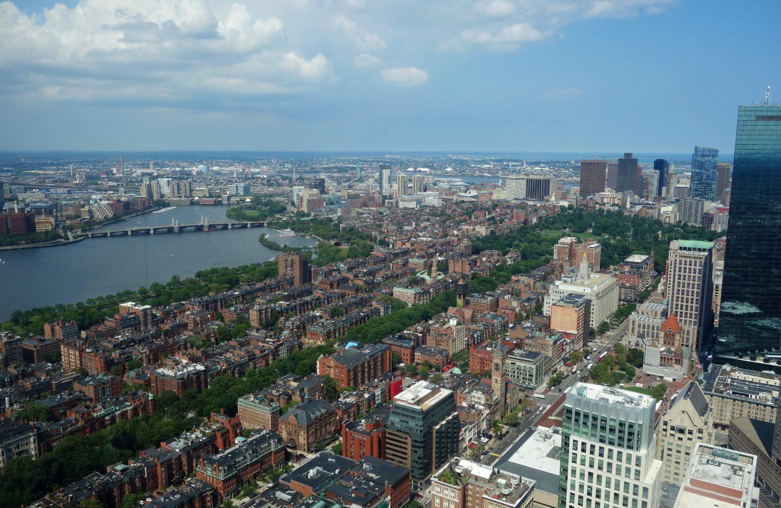 Boston Blick vom Prudential Tower