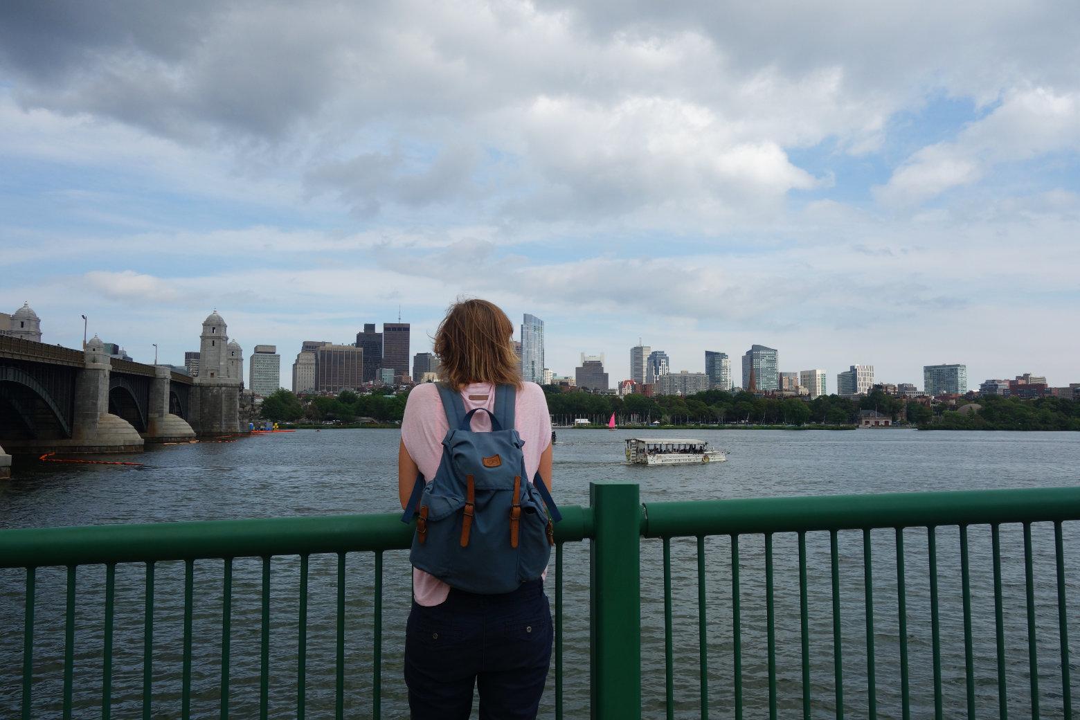 Boston Blick von Cambridge
