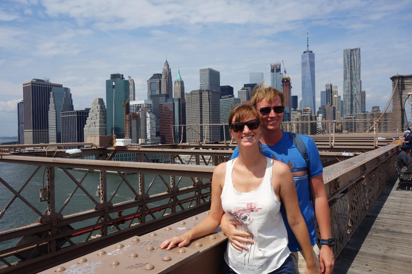 New York Brooklyn Bridge Paar