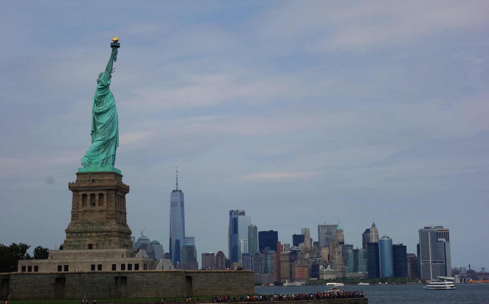 New York Freiheitsstatue mit Skyline New York