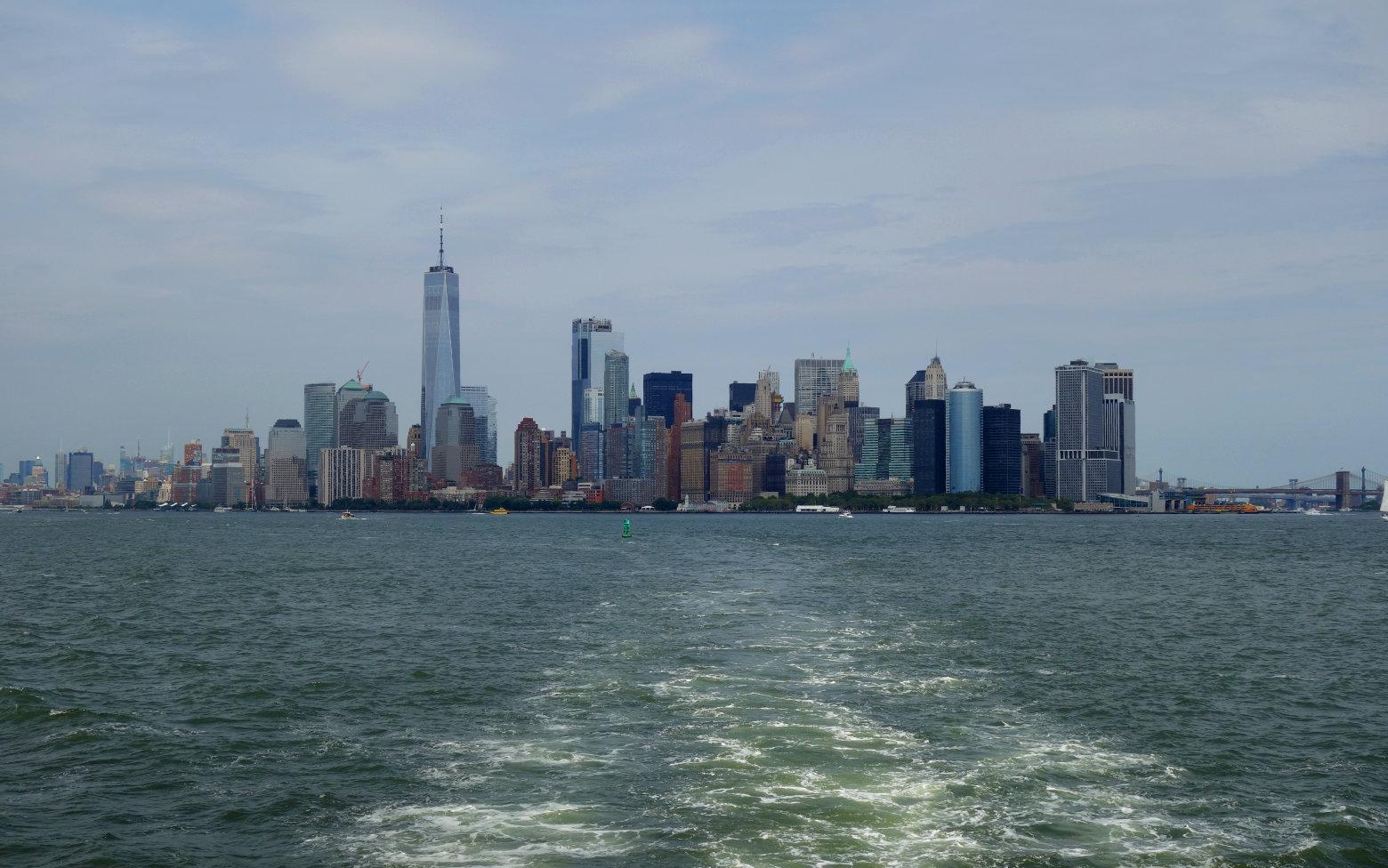 Boston Skyline vom Schiff