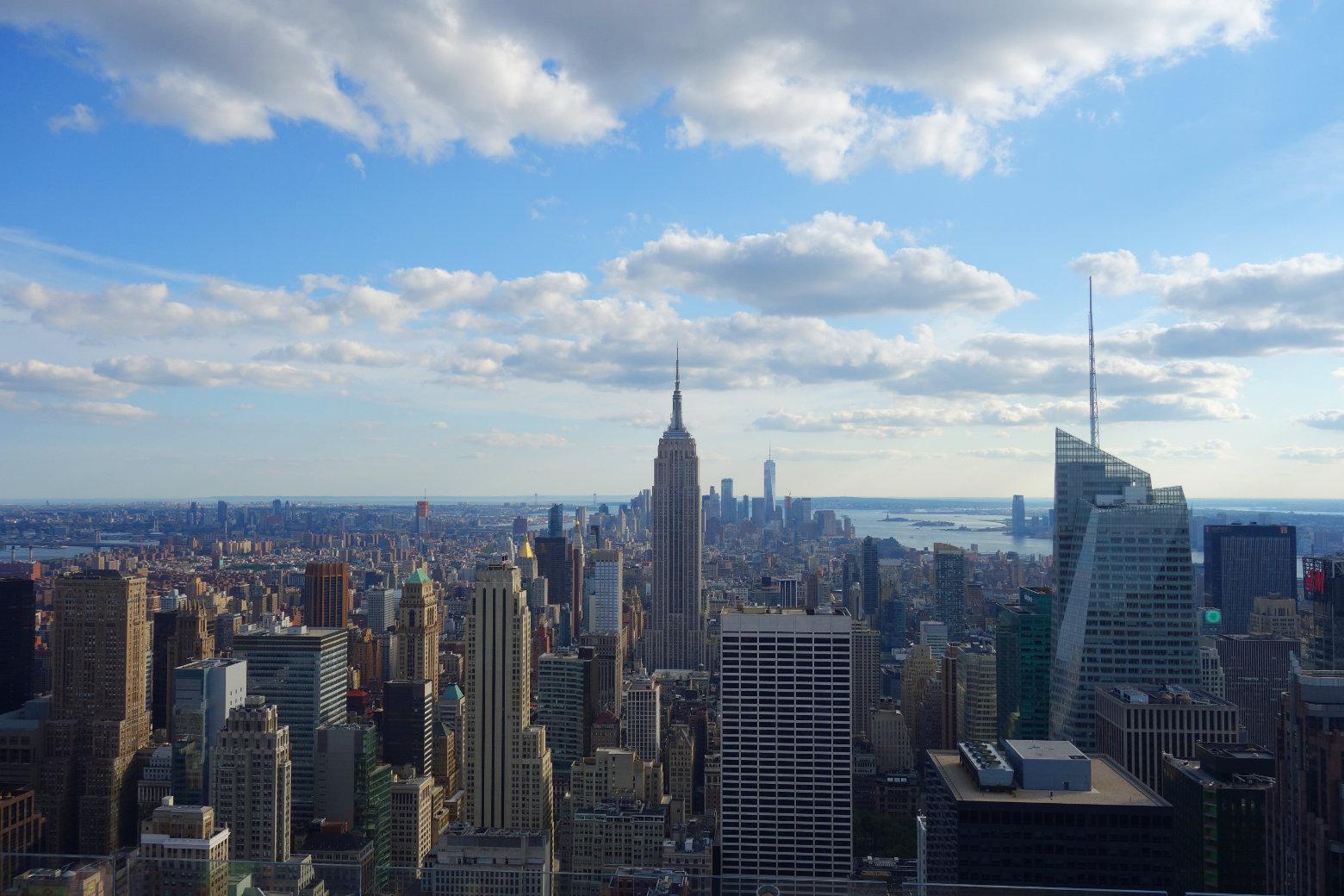 New York Blick auf Empire State Building und die Stadt von oben