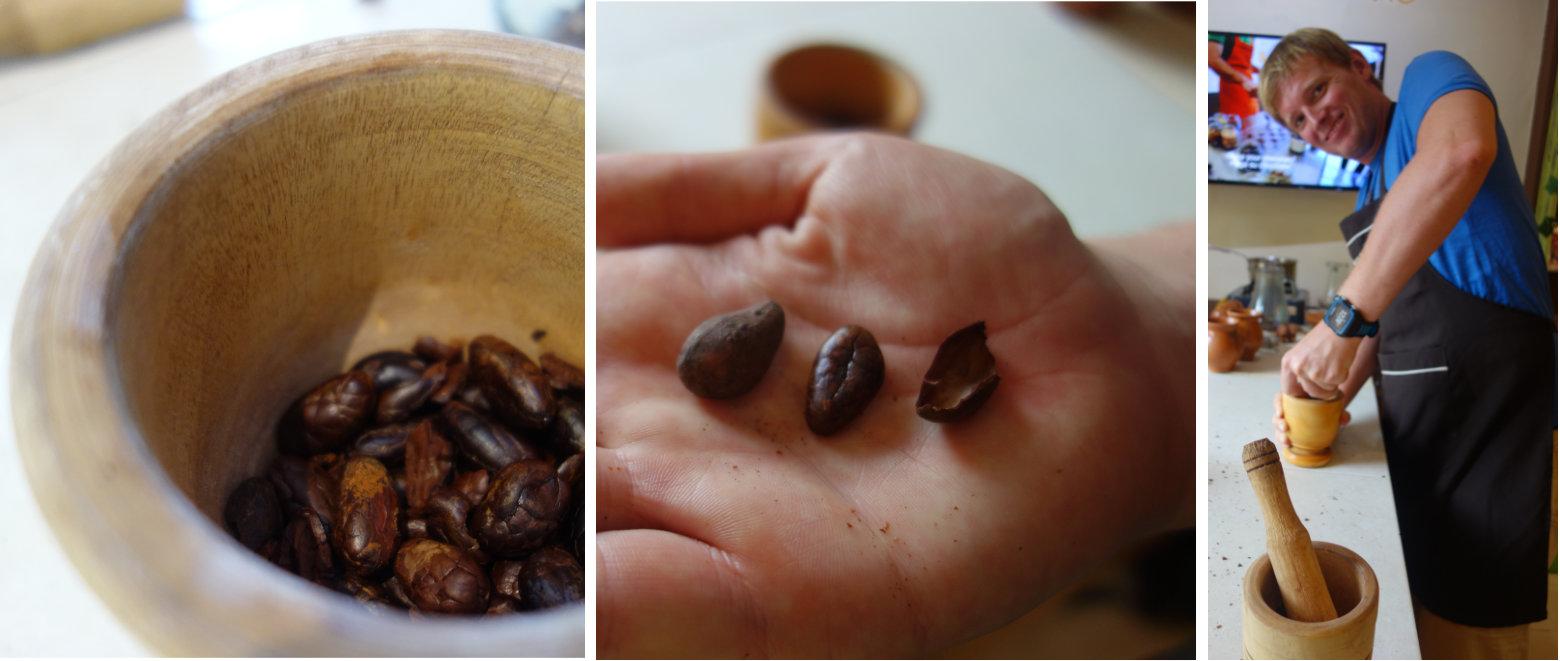 Cartagena Schokoladenkurs Kakaobohnen