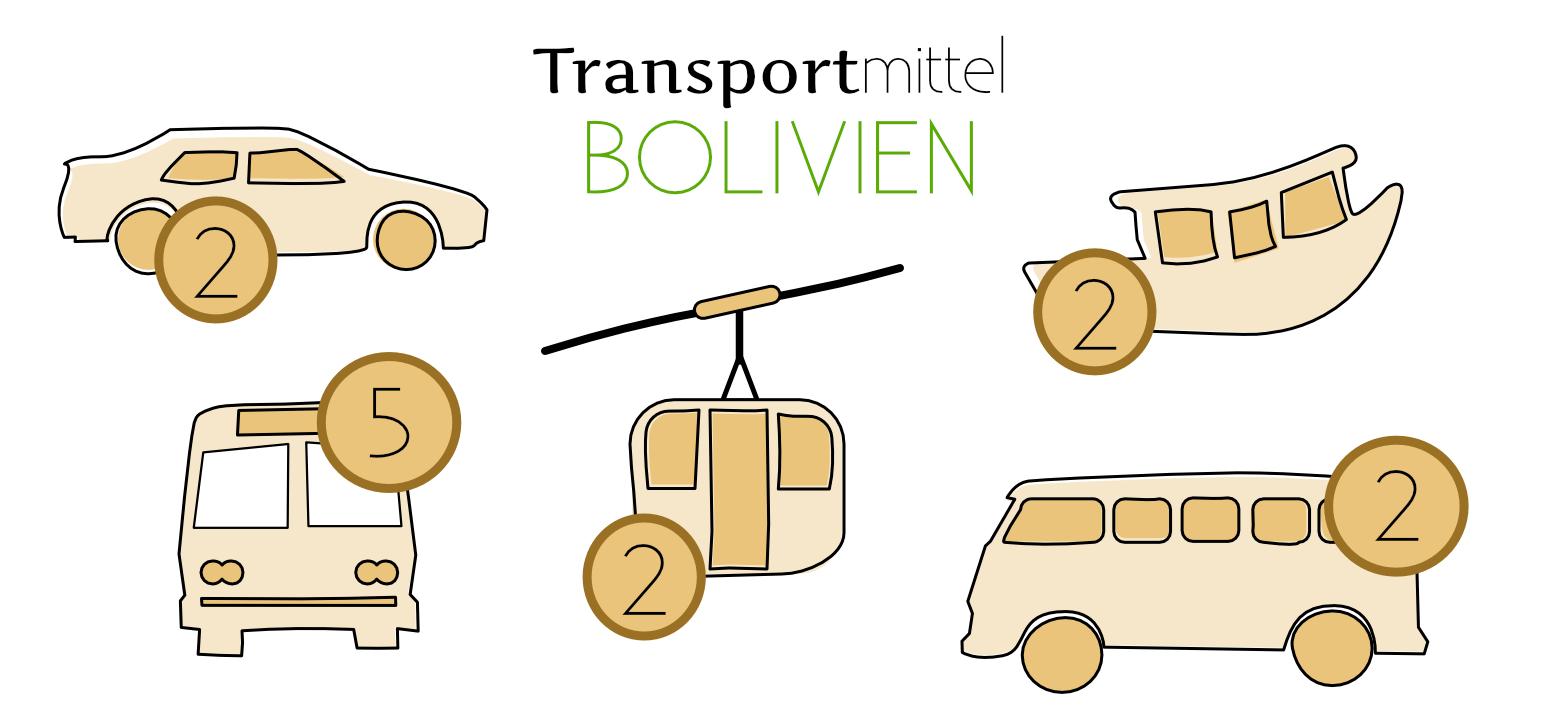 Bolivien Reisetipps Transport Grafik