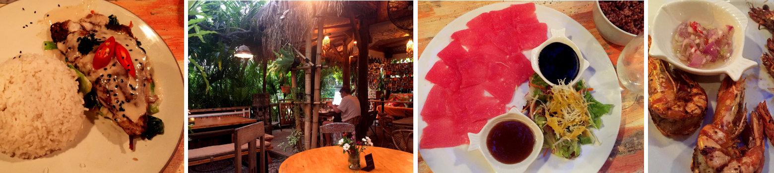 Canggu Moana Fischrestaurant Collage