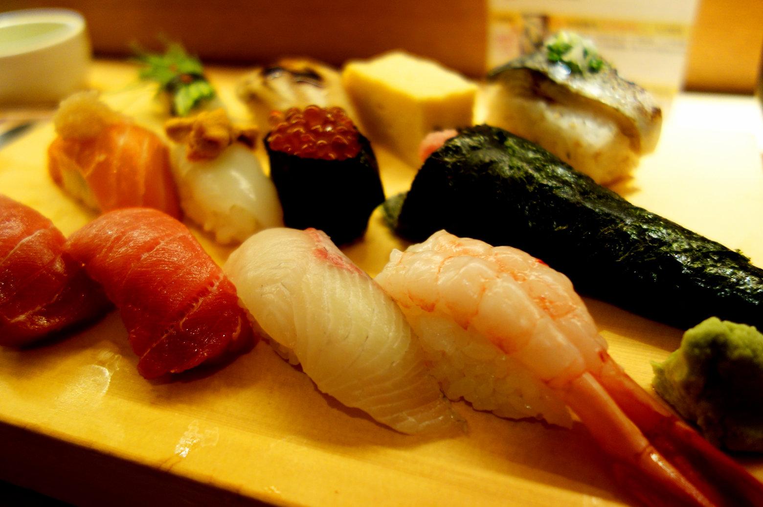 Japan Essen Sushi Platte