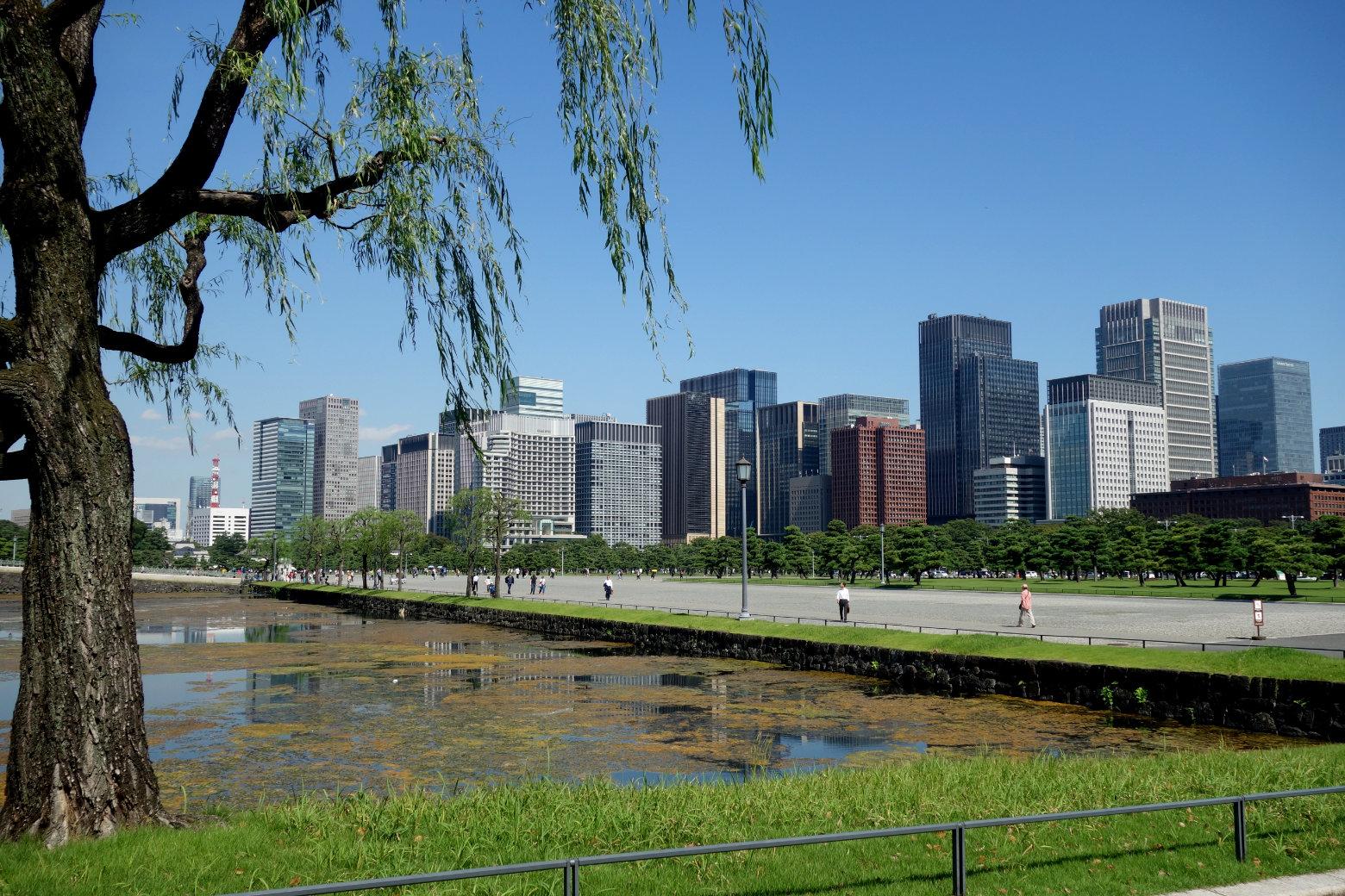 Tokio Blick auf Skyline vom Imperial Palace
