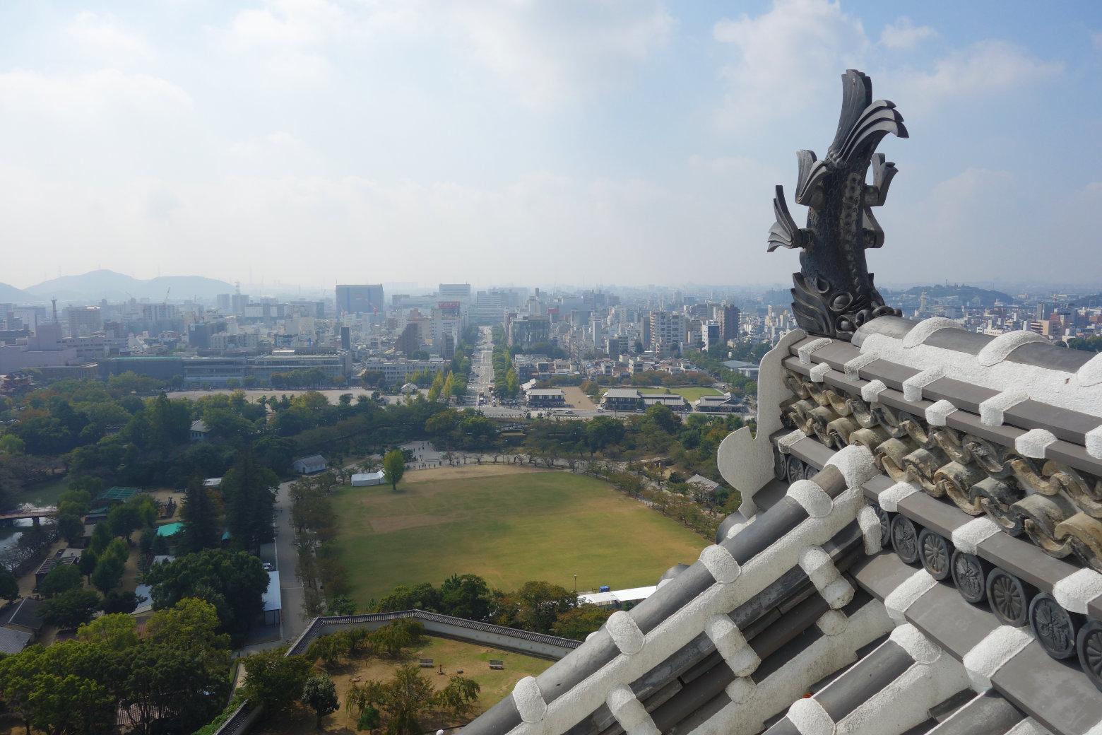 Himeji Castle Blick auf Stadt