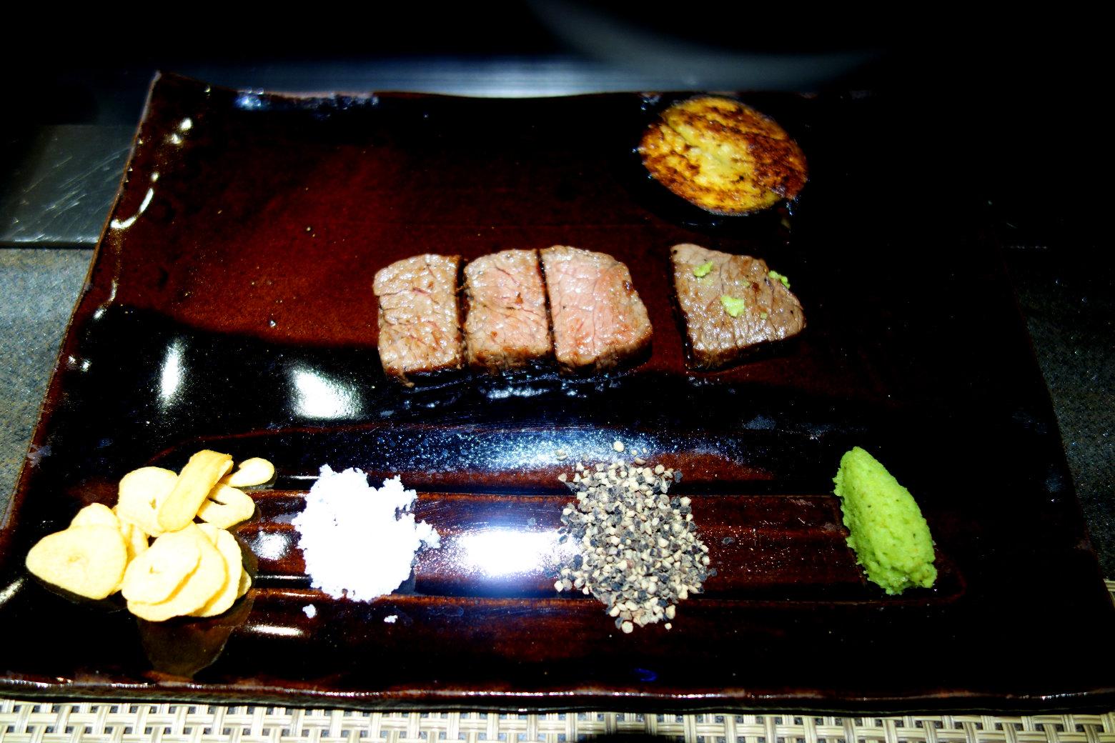 Kobe Beef und Beilagen