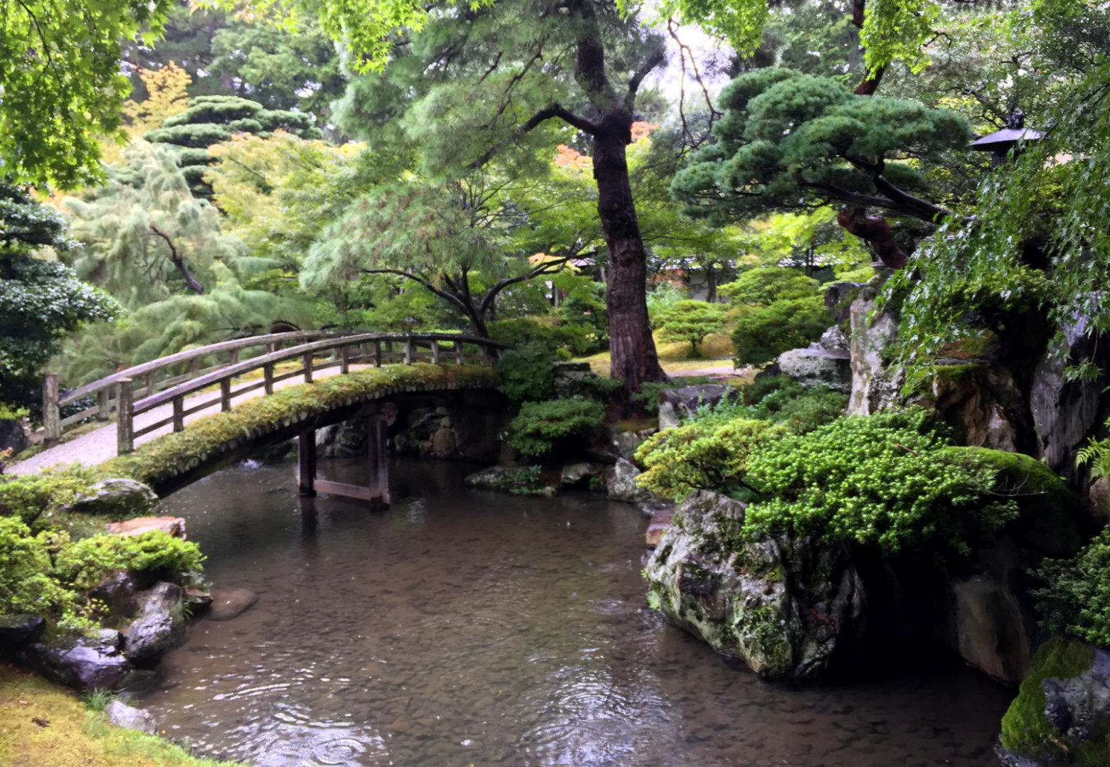 Kyoto Imperial Palace Garten Brücke