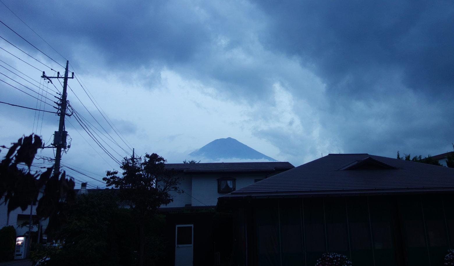 Mt Fuji Blick vom Hostel