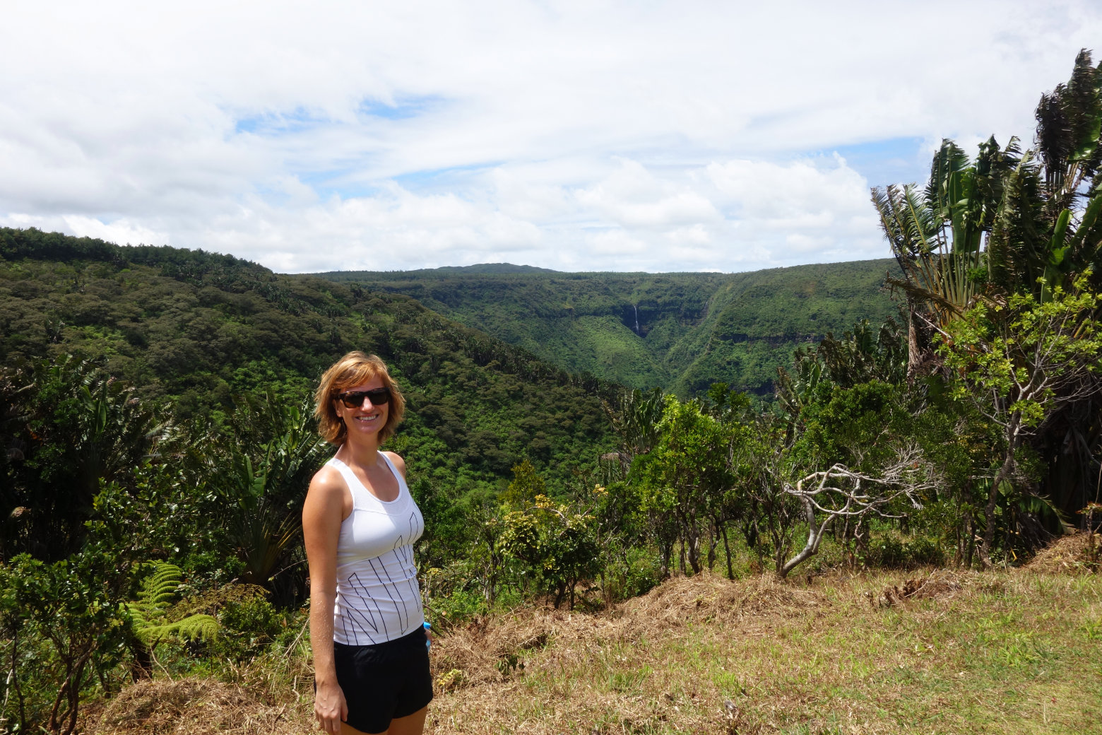 Mauritius Black River Gorges Franzi vor Grün