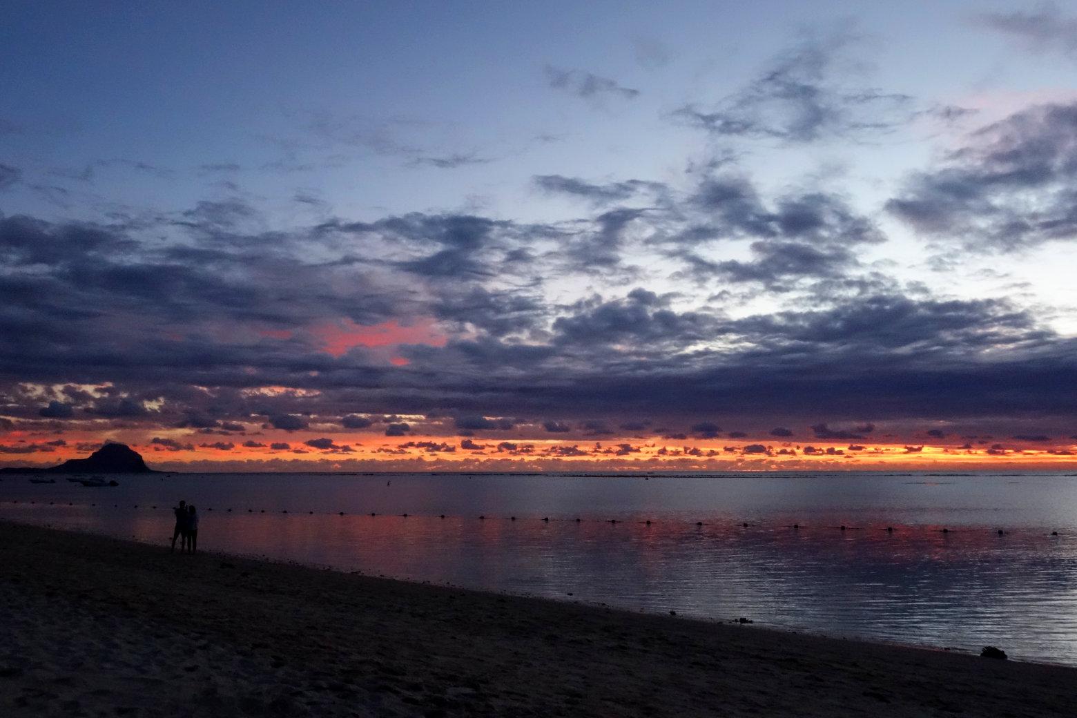 Mauritius Flic en Flac Sonnenuntergang