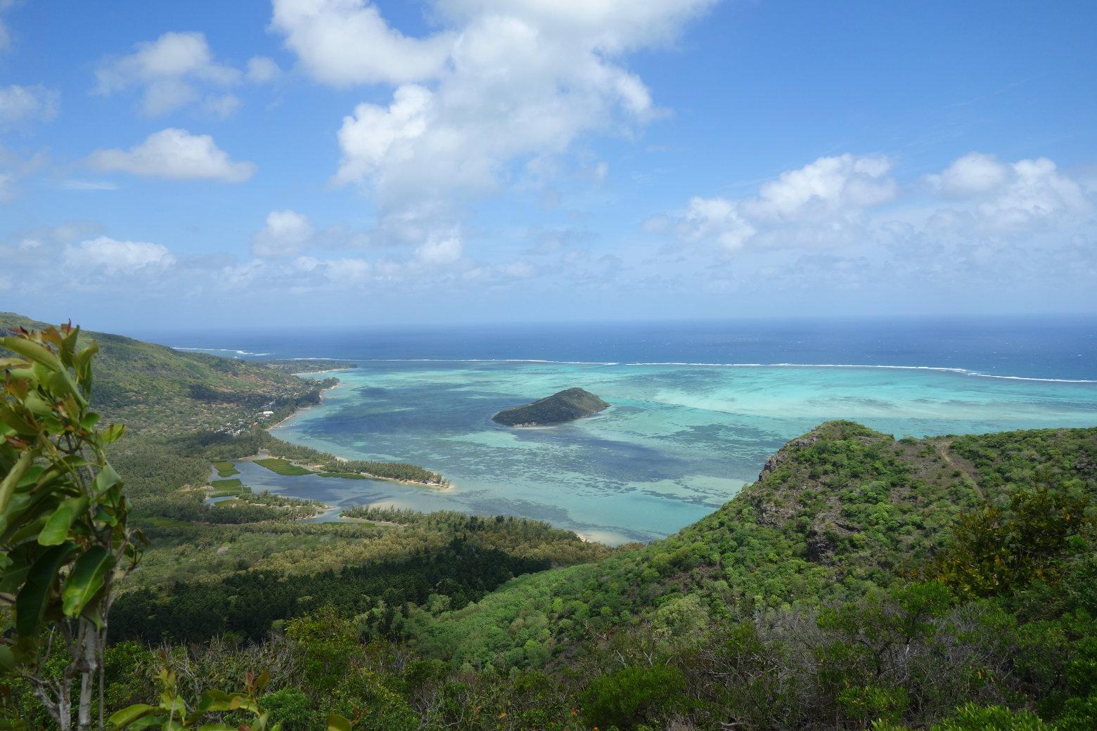 Mauritius Le Morne Wanderung Aussicht