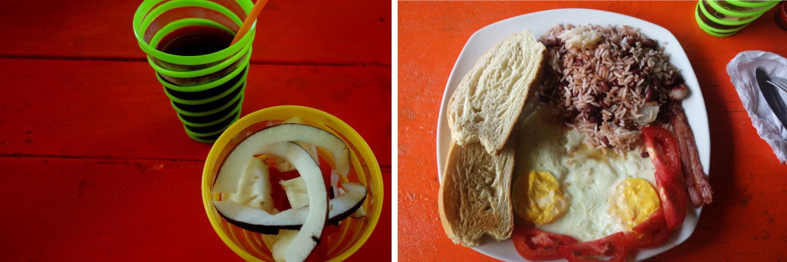 Little Corn Island Frühstück