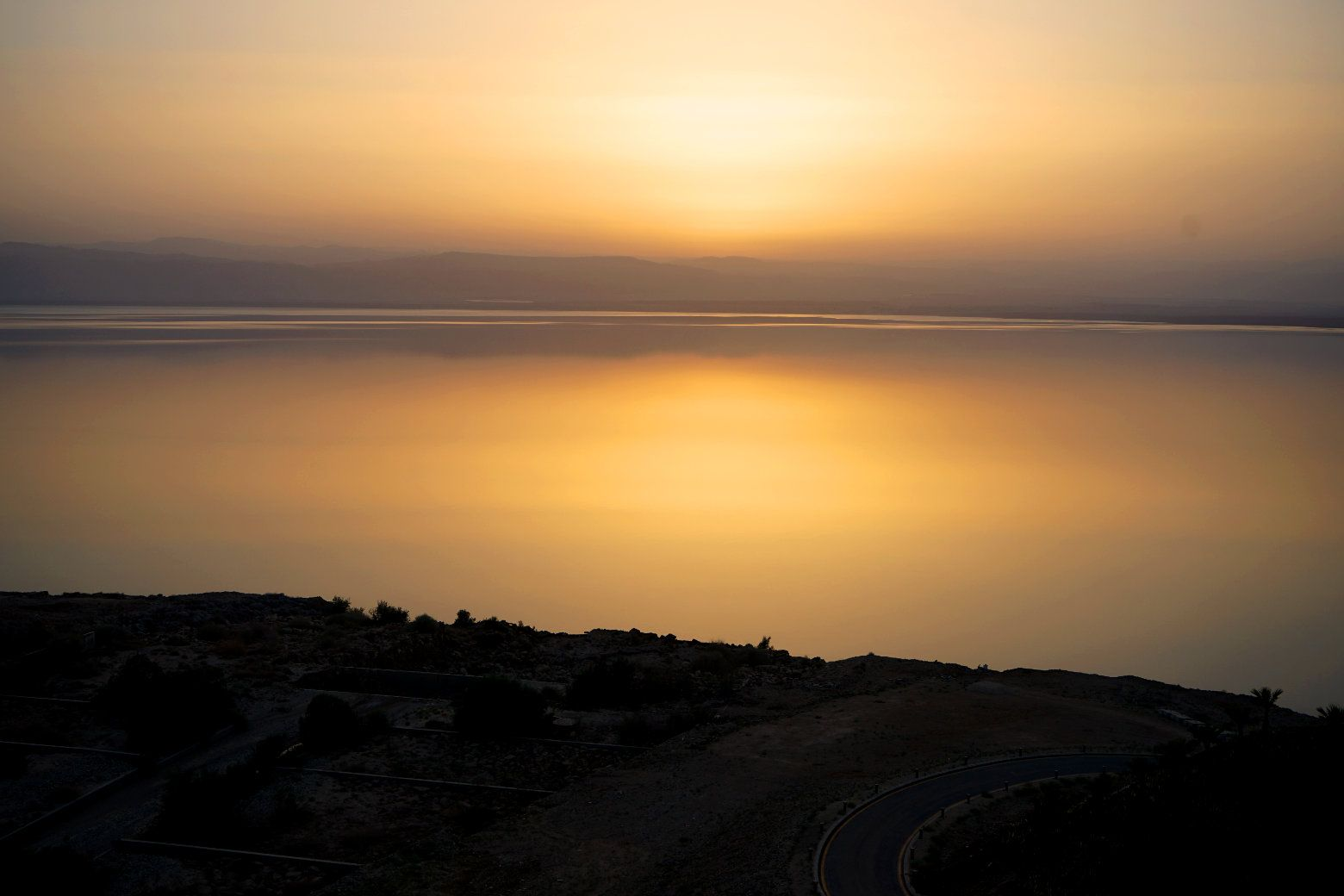 Totes Meer Sonnenuntergang II