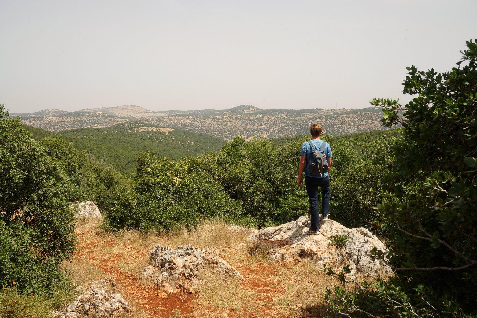 Ajloun Forest Reserve Ausblick Matthias