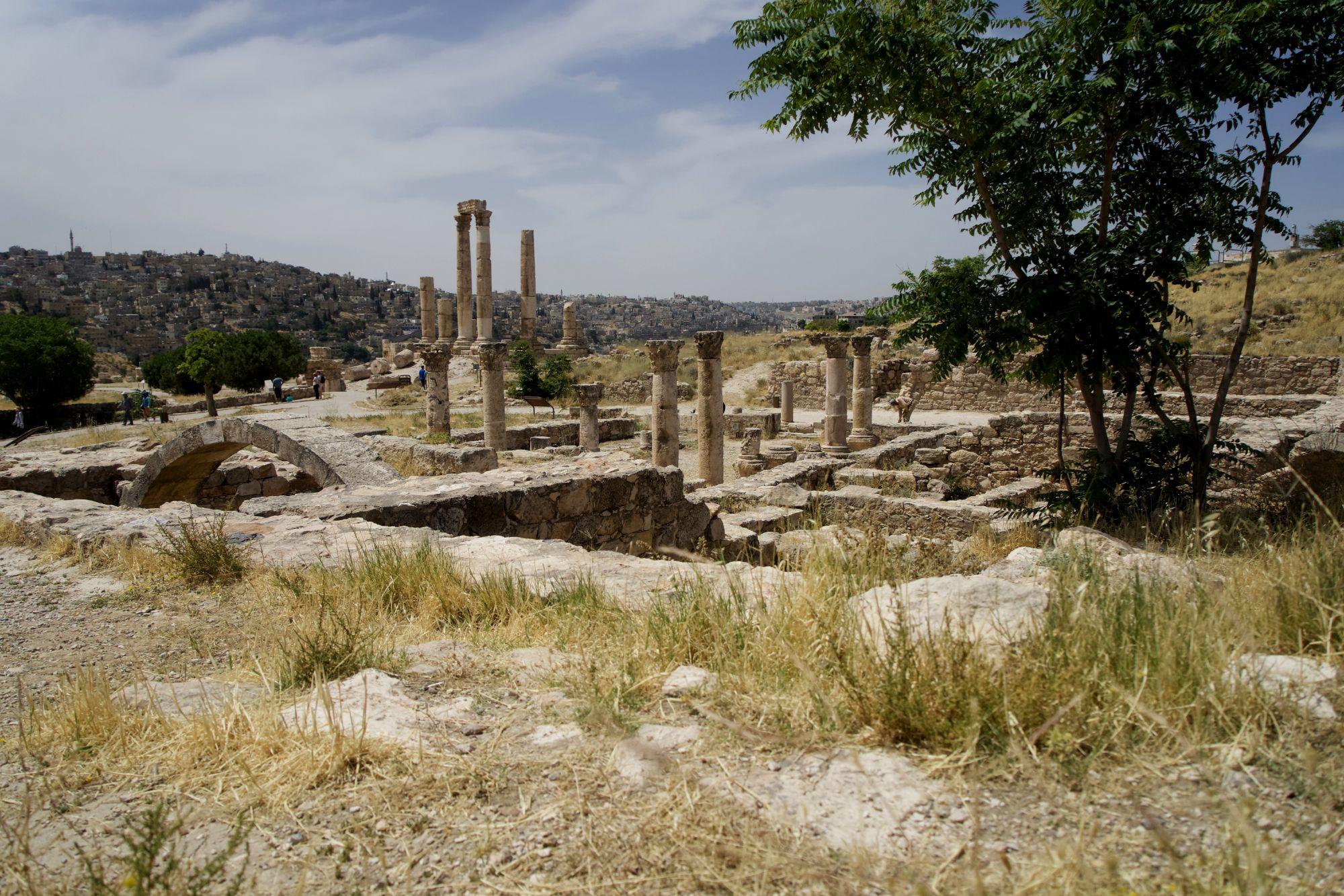 Amman Zitadelle Tempel und Stadt