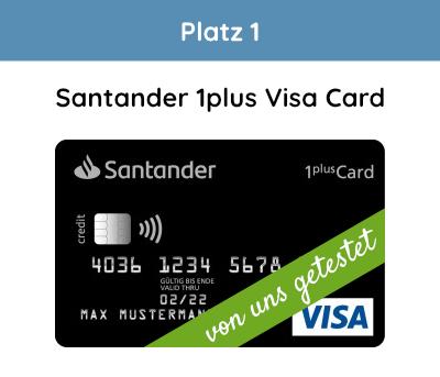 Santander 1Plus Visa Testsieger