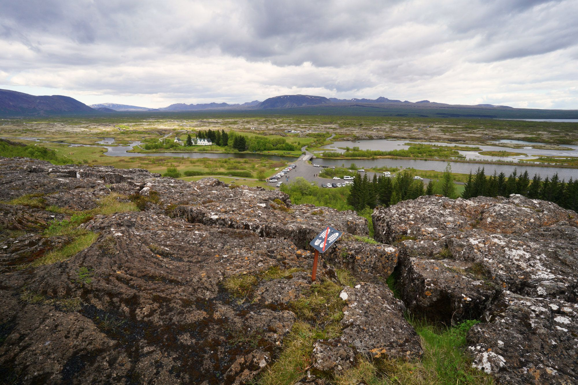 Golden Circle Pingvellir Blick