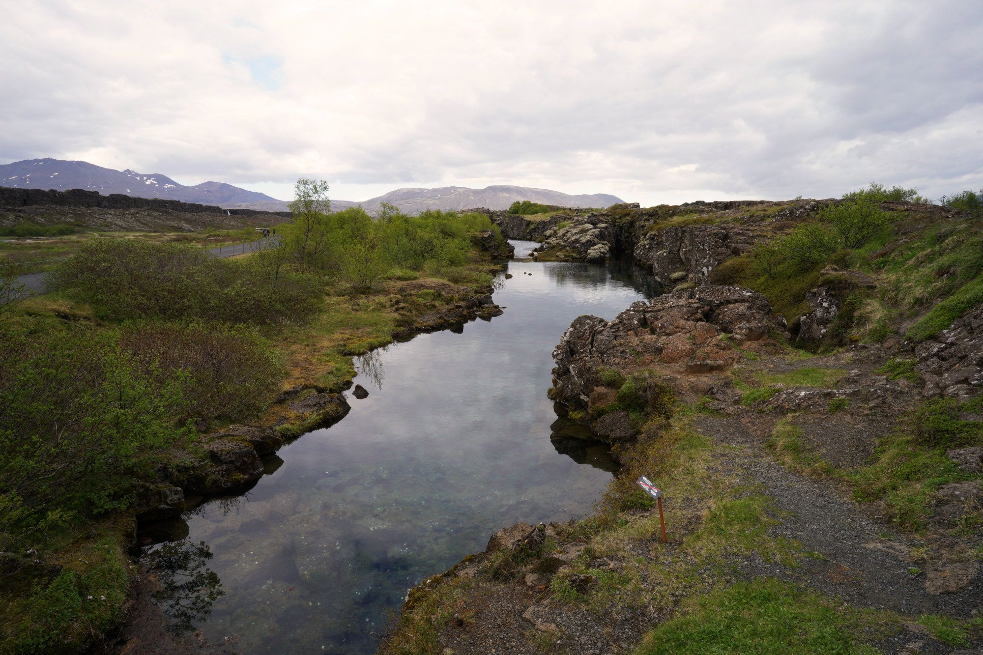 Golden Circle Pingvellir Wasser
