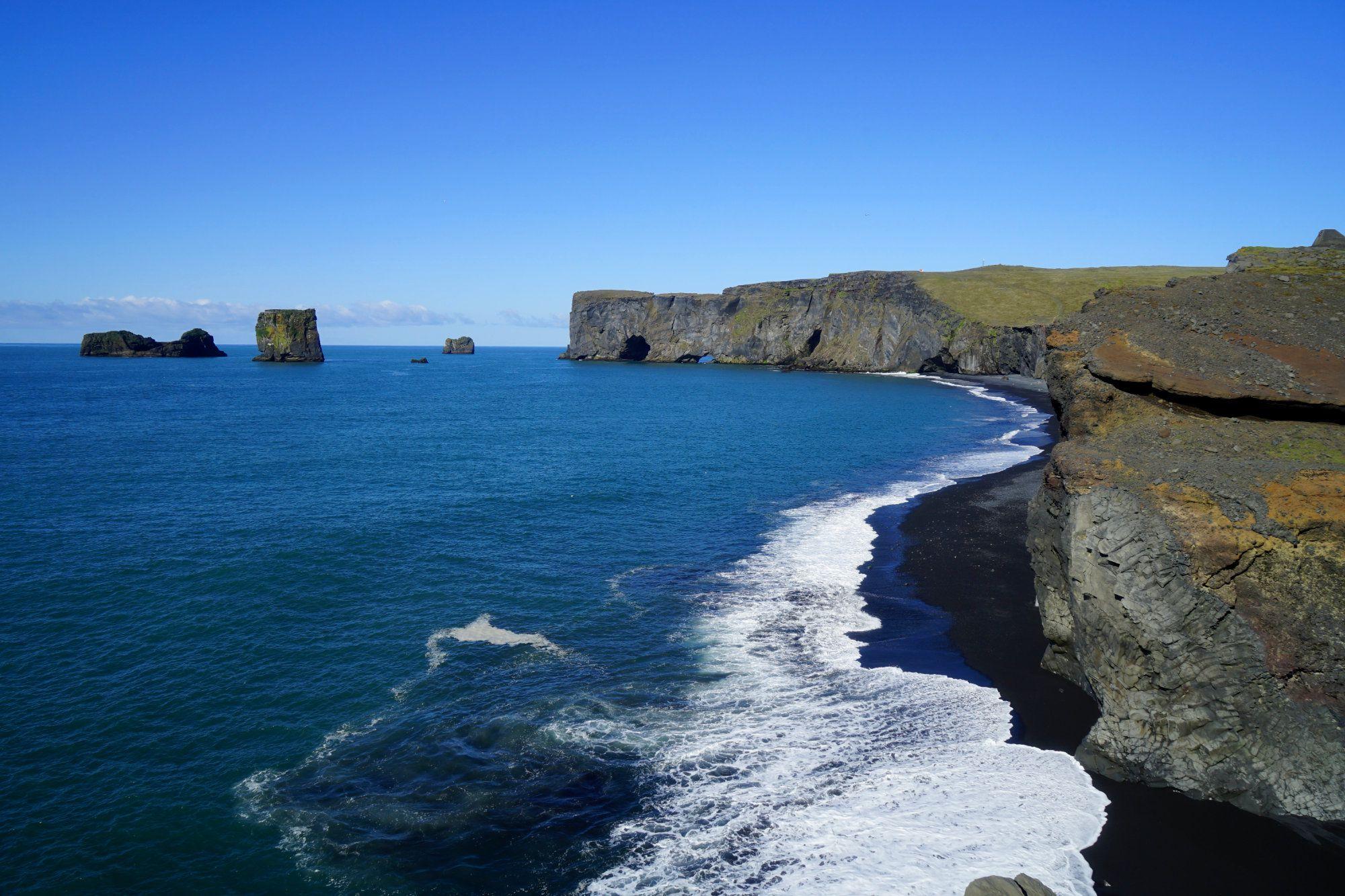 Steilklippe Dyrholaey Küste