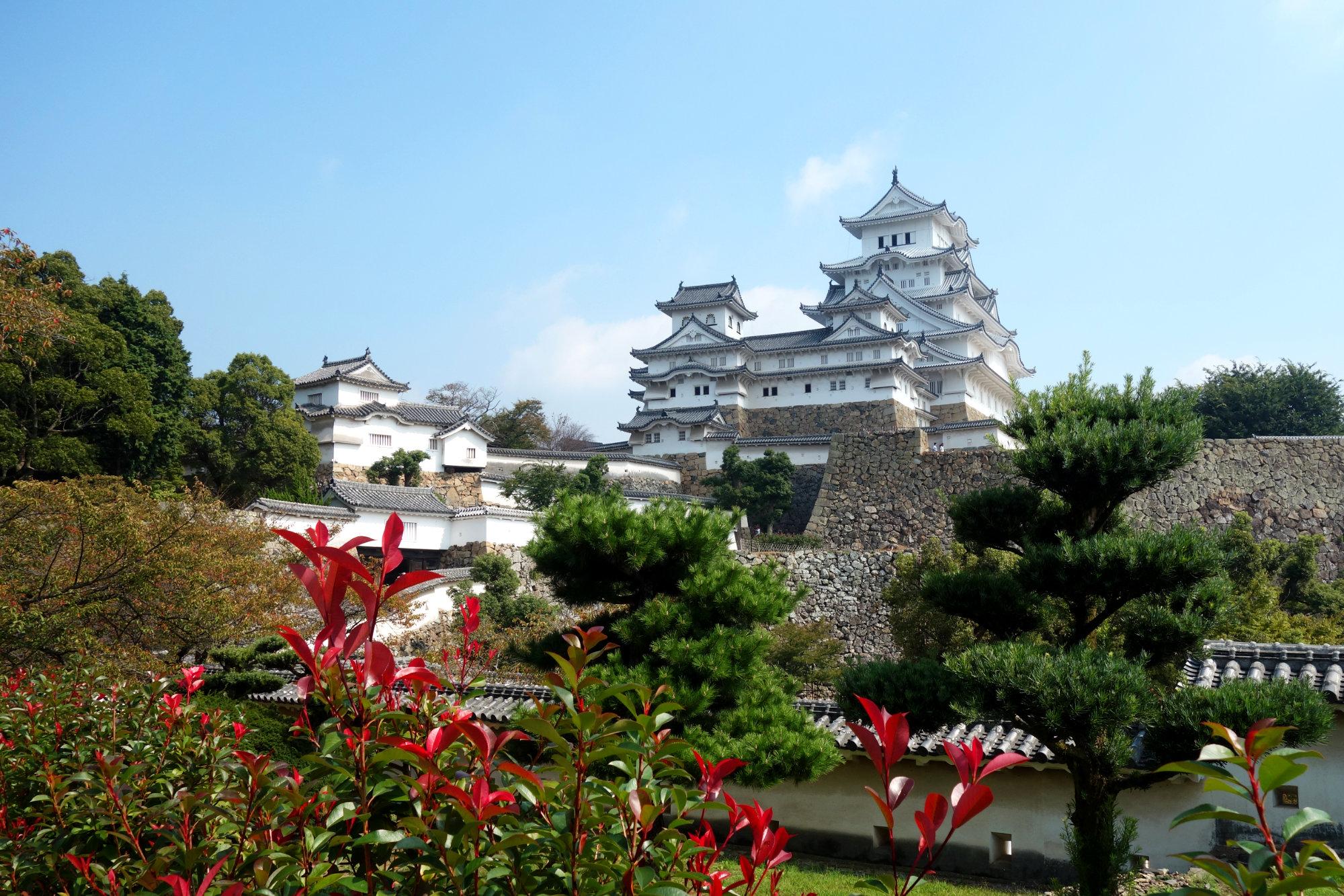 Himeji Burg mit Park