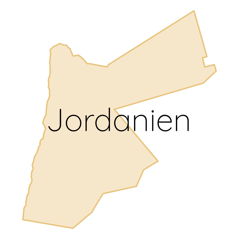 Jordanien Karte