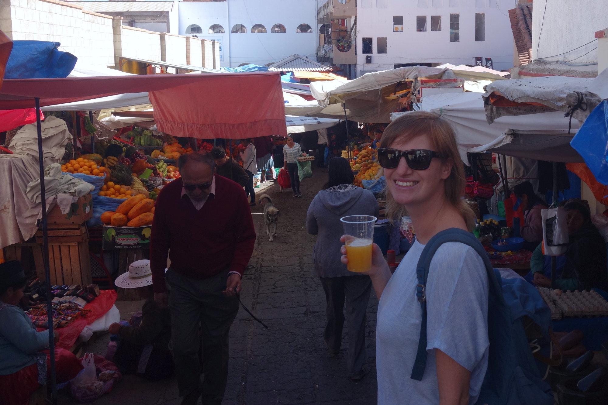 Bolivien Markt Franzi