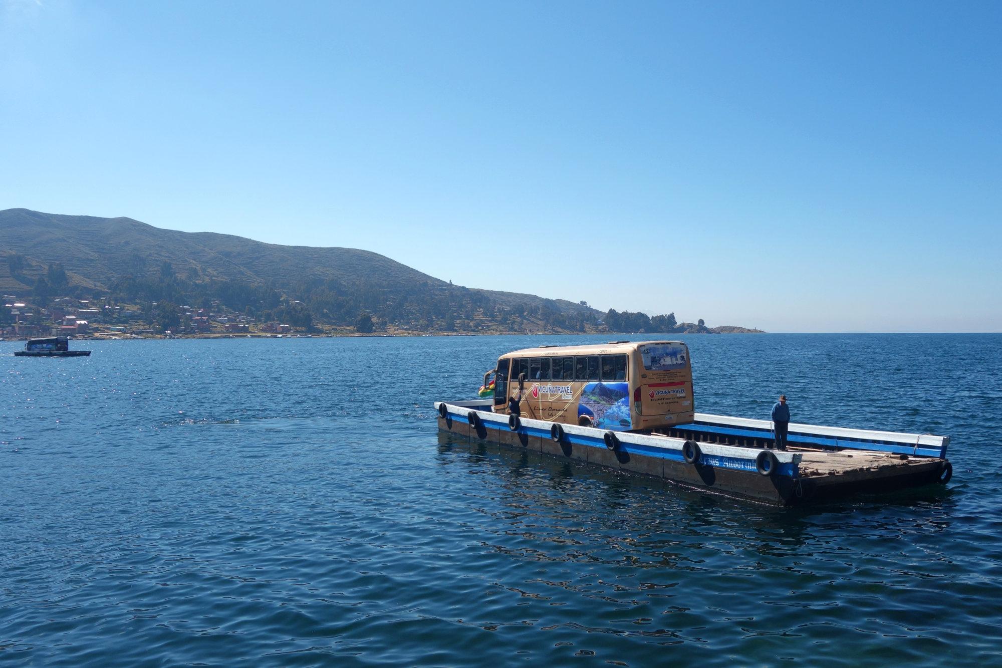 Bolivien Reisetipps Bus Fähre